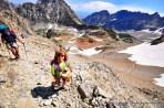 Backpacking in Upper Paintbrush Canyon, Grand Teton National Park.