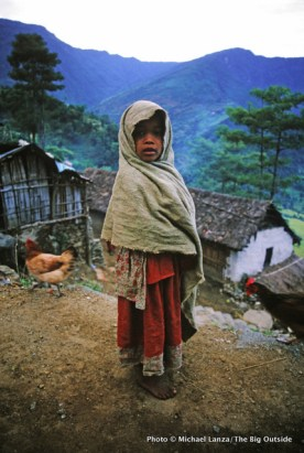 Young girl in Bahudanda.