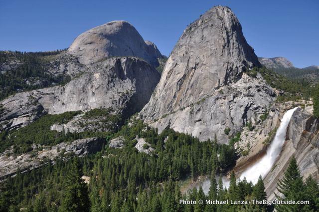 View from John Muir Trail above Nevada Fall, Yosemite National Park.