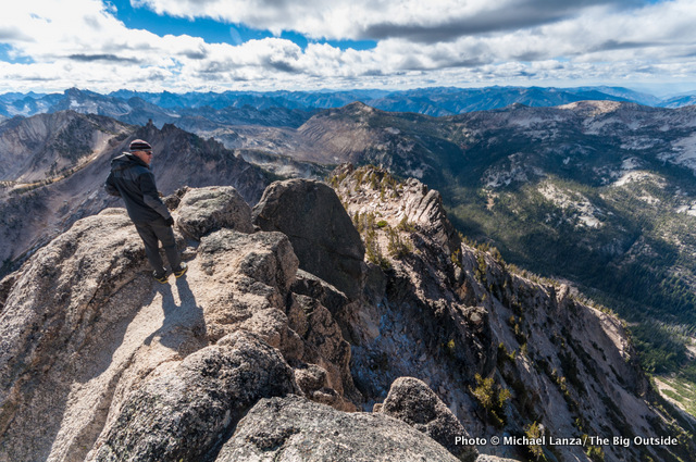 Chip Roser on the 9,860-foot summit of McGown Peak.