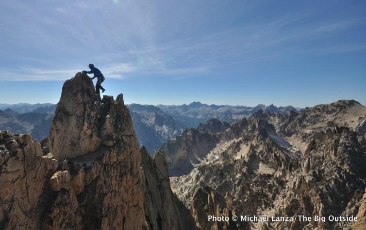 Scrambling to the summit of Mount Heyburn.