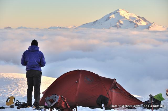 Campsite, Dome Glacier, Ptarmigan Traverse, Glacier Peak Wilderness, North Cascades.