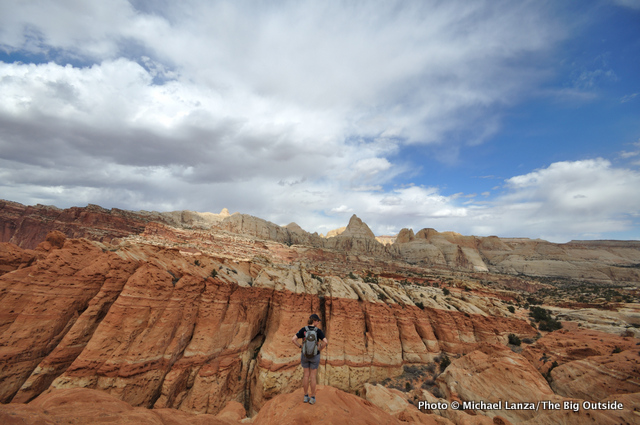 Hiking off-trail near the Frying Pan Trail, Capitol Reef National Park.