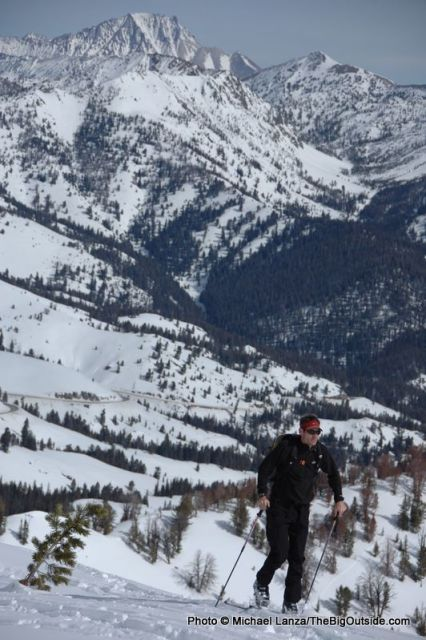 Backcountry skiing north of Sun Valley, Idaho.