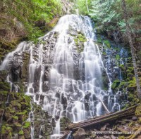 Ramona Falls, Timberline Trail, Mount Hood, Oregon.