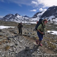 Trekking in Norway's Jotunheimen National Park.