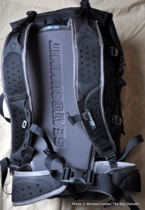 Flow 35L Dry Pack harness.