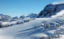 Skiers on Housetop Mountain, Teton Range.