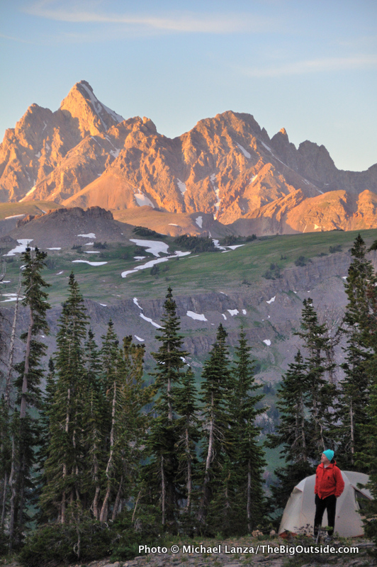 A campsite on Death Canyon Shelf, along the Teton Crest Trail in Grand Teton National Park.