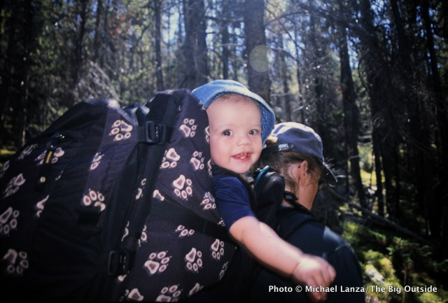 My son, 11 months old, backpacking in Wyoming's Bighorn Mountains.
