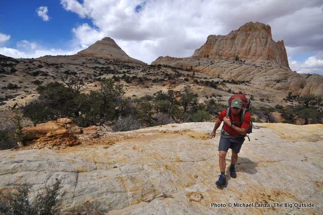 Backpacking the off-trail Beehive Traverse, Capitol Reef National Park.