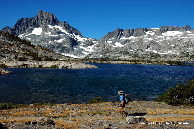 Backpacking the John Muir Trail past Banner Peak and Thousand Island Lake in the Ansel Adams Wilderness.