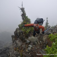 Scrambling the Catwalk, Bailey Range, Olympic National Park.