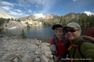 With my son, Nate, at the Big Boulder Lakes, White Cloud Mountains, Idaho.