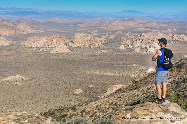 David Ports on Ryan Mountain in Joshua Tree National Park.