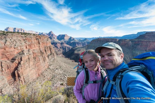 With Alex on Horseshoe Mesa, Grand Canyon.
