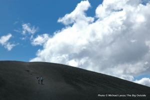 Hiking up Inferno Cone.