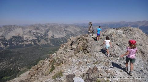 Hiking Norton Peak, Smoky Mountains, Idaho.