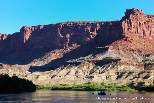 Floating the Green River in Canyonlands National Park.