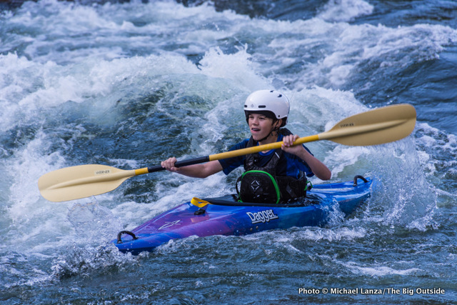 Nate kayaking Idaho's Payette River.