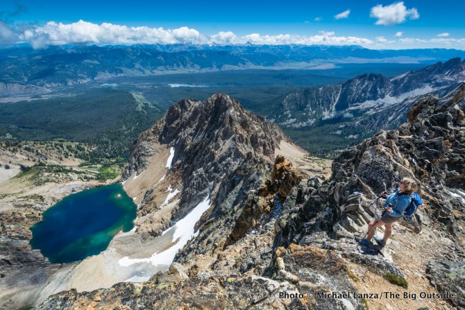 Summit of Thompson Peak in Idaho's Sawtooth Mountains.