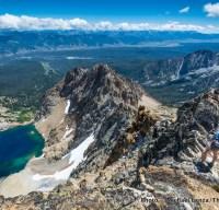 Summit of Thompson Peak in Idaho's Sawtooth Mountains.