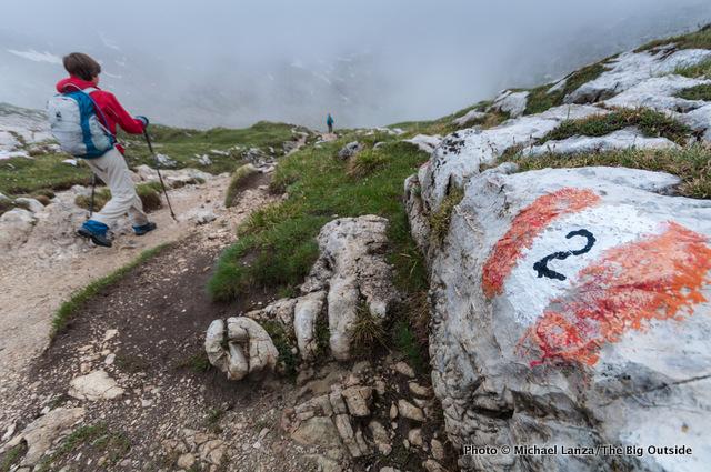 Hiking to Forcela de Crespeina, Alta Via 2.
