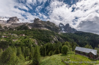"""The Marmolada, """"Queen of the Dolomites."""""""