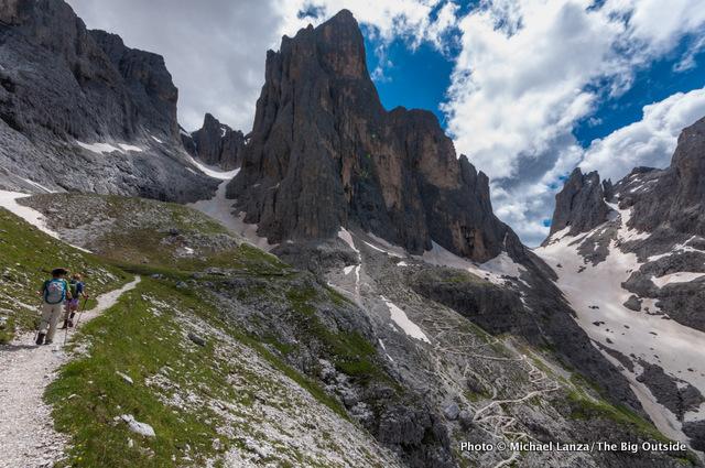 The Alta Via 2 in Paneveggio-Pale di San Martino Natural Park, Dolomite Mountains, Italy.