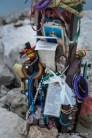 Tributes atop Rosetta Peak.