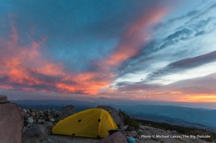 Sunrise at Cooper Spur campsite