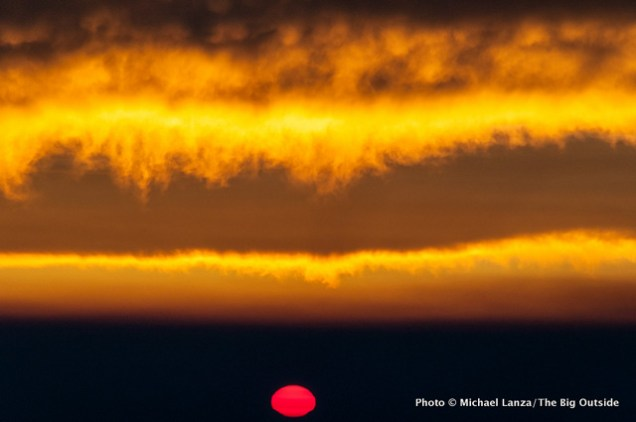 Sunrise from Cooper Spur shelter.