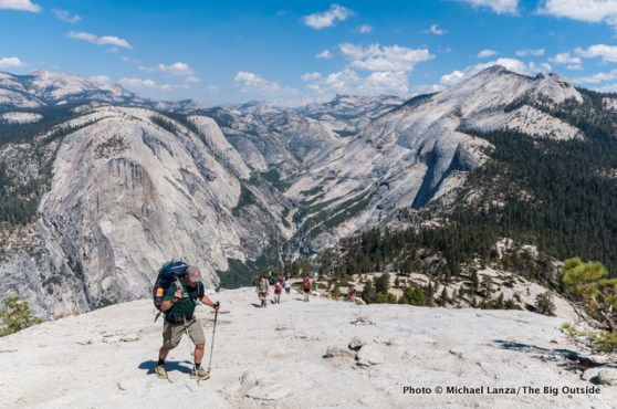 Hiking Half Dome.