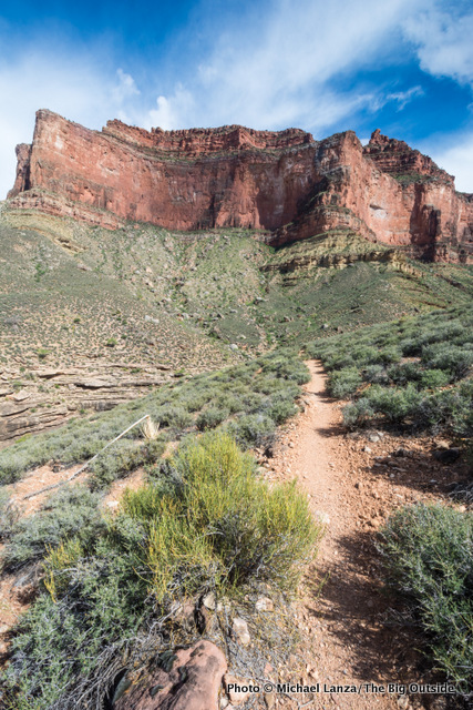 The Tonto Trail at Horn Creek, Grand Canyon.