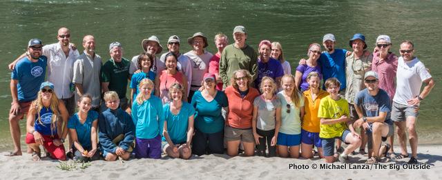 Trip's end at Cache Bar, Main Salmon River, Idaho.