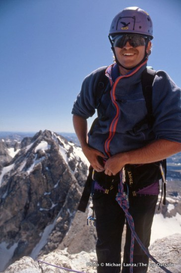 Rick Baron on the Grand Teton in 1993.
