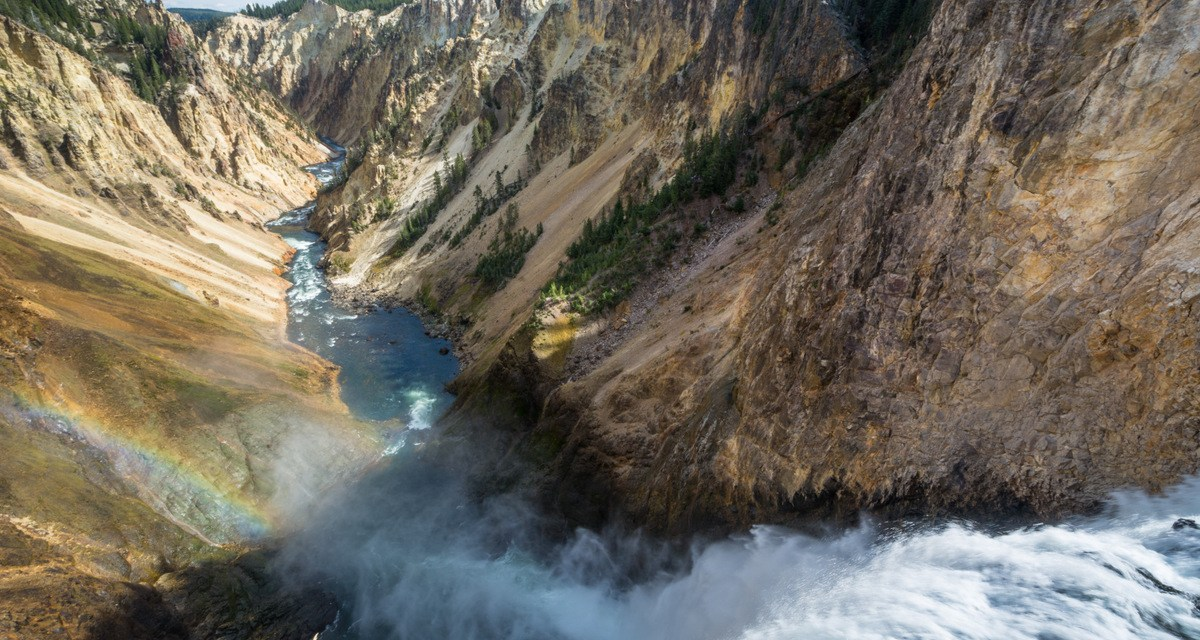 One Photo, One Story: Lower Yellowstone Falls, Yellowstone National Park