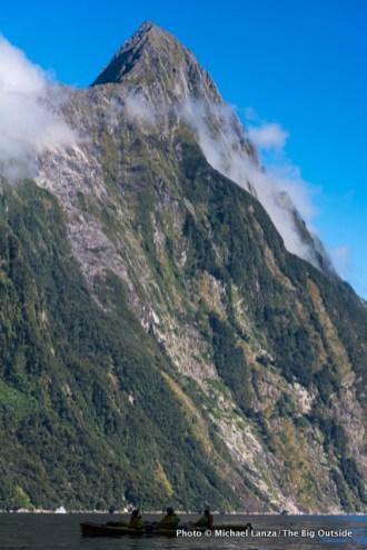 Below Mitre Peak.