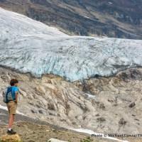 Iceline Trail view of the Emerald Glacier, Yoho National Park, Canada.
