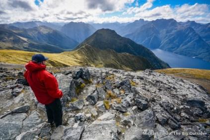 Trekking the Kepler Track, Fiordland National Park, New Zealand.