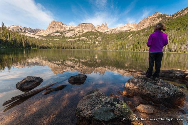 My daughter, Alex, at Hell Roaring Lake, Sawtooth Mountains, Idaho.