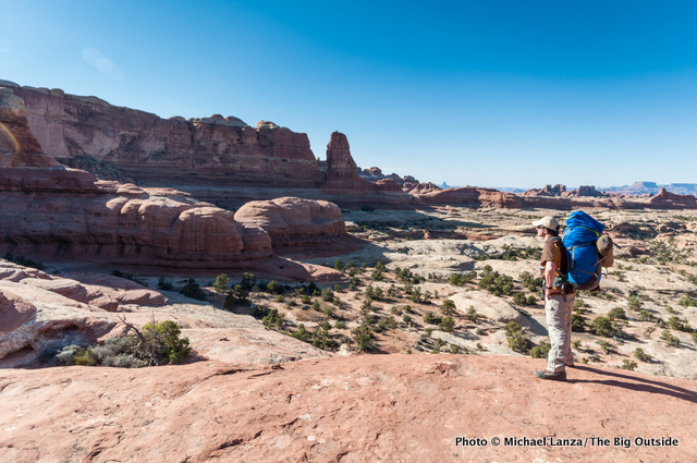 Vince Serio at Big Spring-Squaw Pass, Needles District, Canyonlands National Park.