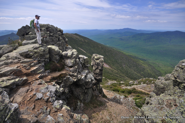 Hiking Franconia Ridge in New Hampshire's White Mountains.