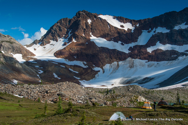 Upper Lyman Lakes, Glacier Peak Wilderness, one of my 25 favorite backcountry campsites.