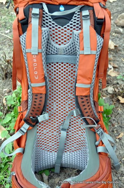 Osprey Atmos AG 65 harness.
