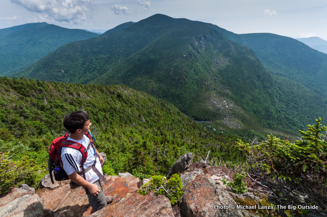 My nephew, Marco Garofalo, high above Carter Notch in the White Mountains.