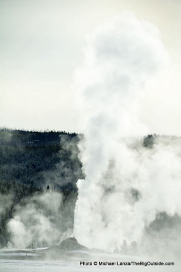 White Dome Geyser in winter.