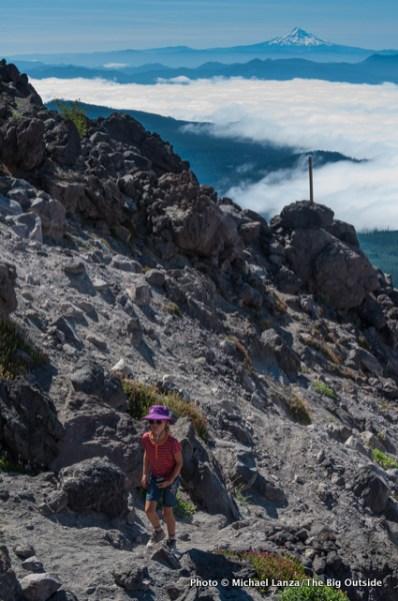 Alex hiking Monitor Ridge.