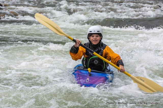 Nate kayaking the Middle Fork Salmon River, Idaho.