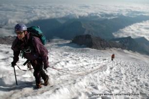 Emmons Glacier, Mount Rainier National Park.